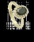 Pierścionek z onyxem PC 09