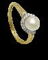 Pierścionek z perłą oraz cyrkoniami PC 21